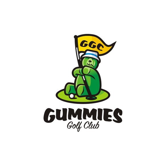 Joint design with the title 'Gummies Golf Club - Gummies and Golf are the bomb!!!'