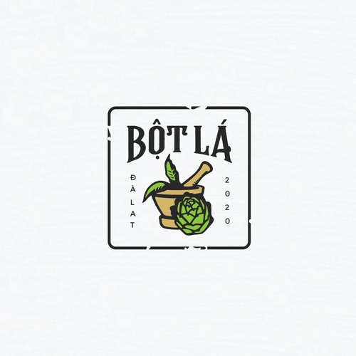 Vietnamese design with the title 'Logo for Bột Lá'
