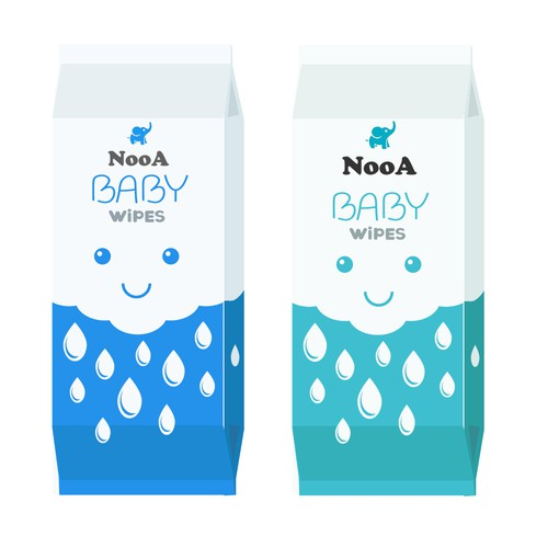Vector artwork with the title 'Package design for Baby product'