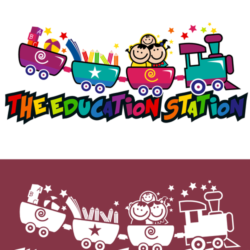 Kindergarten logo with the title 'logo for the education station'