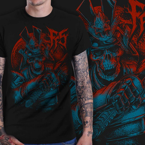Japanese t-shirt with the title 'FF5 BAND T SHIRT SKULL JAPAN'