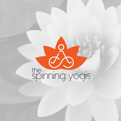 Clear logo with the title 'yoga and cycle fitness logo '