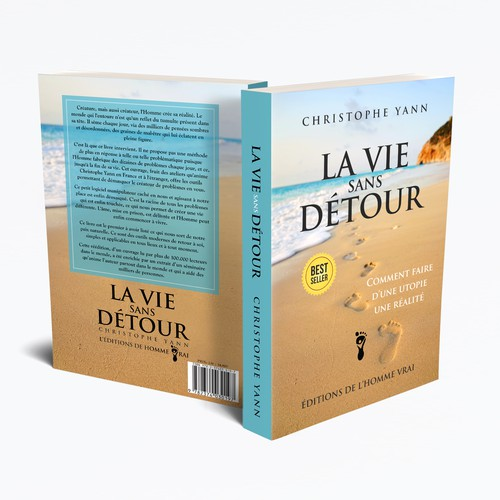 Inspirational book cover with the title 'La Vie Sans Detour'