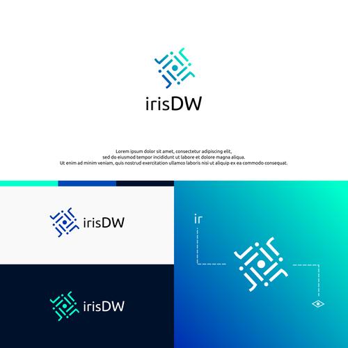 Vortex logo with the title 'Modern logo for IrisDW'