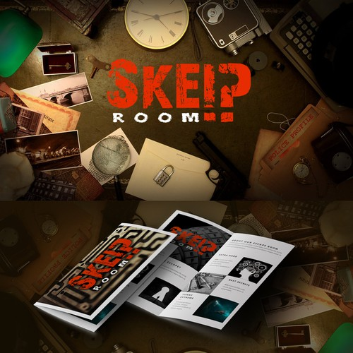 "Quest design with the title 'Logo for ""Skeip Room""'"
