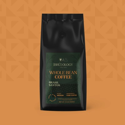Vibrant coffee brand label