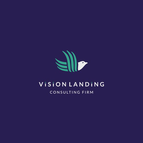 Vision logo with the title 'Bird logo for Vision Landing'