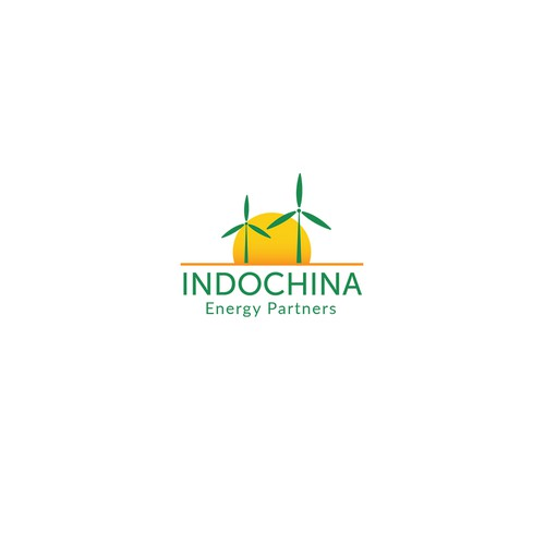 Green energy design with the title 'Logo for a renewable energy company in SE Asia.'