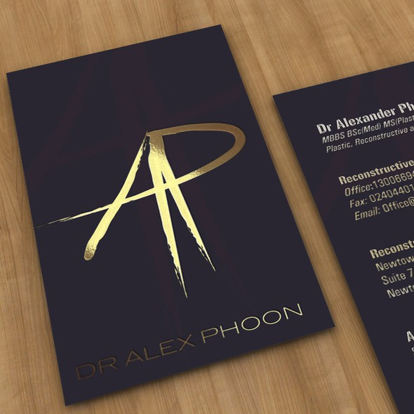 Elegant design with the title 'Logo and Business card for Doctor'