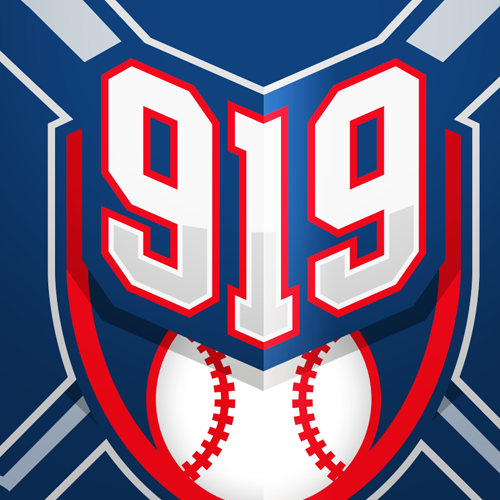 Sports logo with the title '919 Baseball Logo'