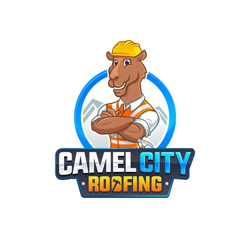 Camel logo with the title 'Camel City Roofing'
