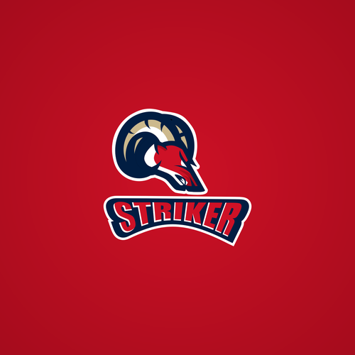 "Aggressive logo with the title 'Design for ""Striker""'"