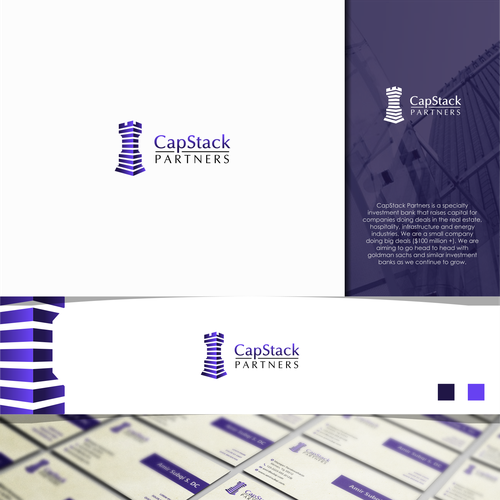 Strategic design with the title 'CapStack Logo'