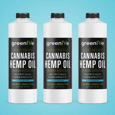 Label design for Hemp Oil