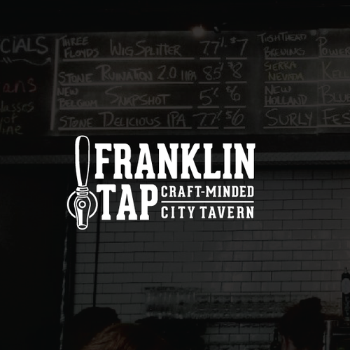 Tap design with the title 'Franklin Tap logo'