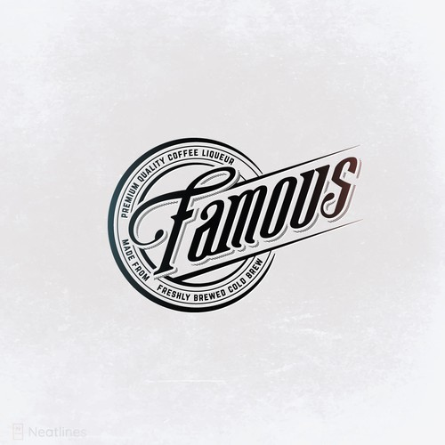 Letter design with the title 'Famous Coffee Liqueur'