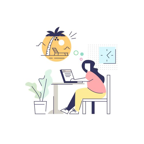 Dream design with the title 'fun illustration'