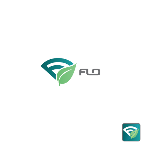 Tracking logo with the title 'A logo for the Flo app.'