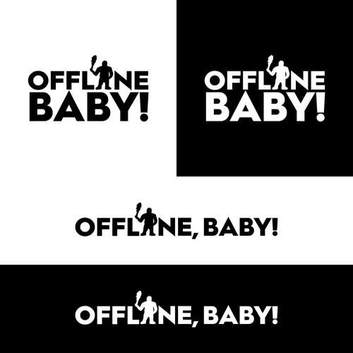 Caveman logo with the title 'Offline, Baby!'