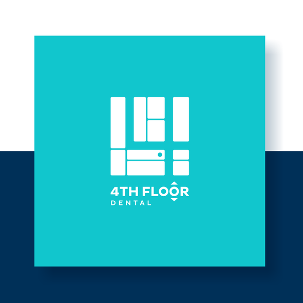 Turquoise brand with the title '4th Floor Dental BIP'