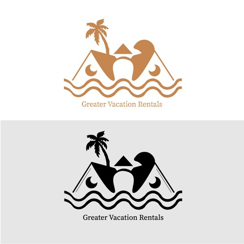 Vacation rental logo with the title 'simple logo '