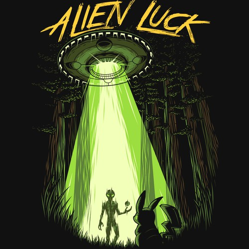 Alien design with the title 'Alien Luck'