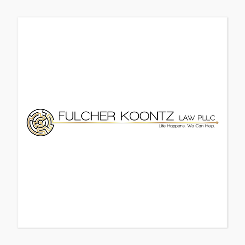 Maze logo with the title 'Magnetic Logo For A Law Firm'