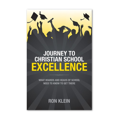 School book cover with the title 'Book cover about Christian school excellence'