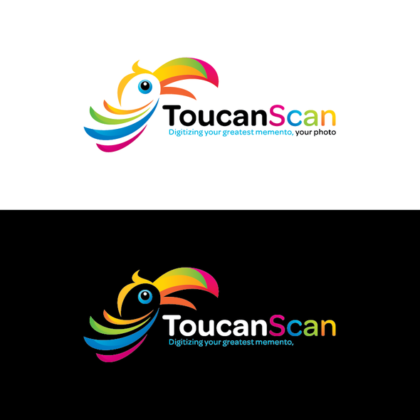 Photography logo with the title 'Help ToucanScan with a new logo'