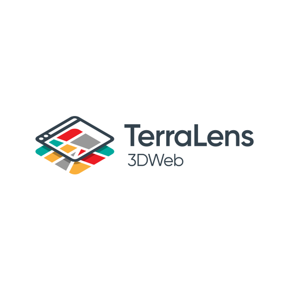 Map logo with the title 'TerraLens 3DWeb '