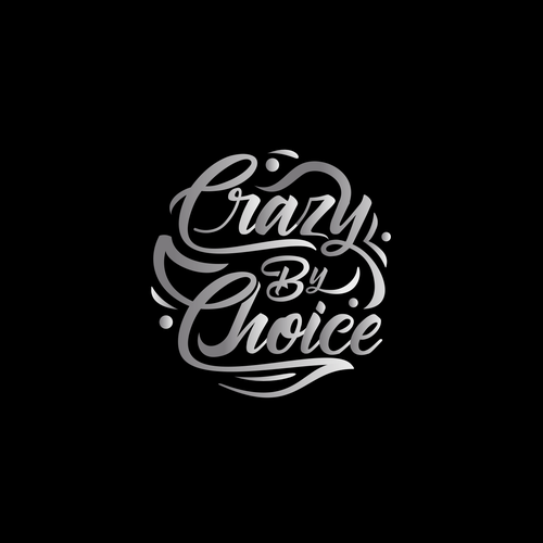 Gray and white logo with the title 'Crazy By Choice'