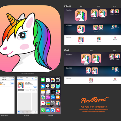 Unicorn app icon design