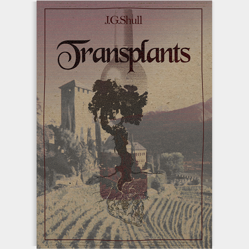 Sepia design with the title 'Old looking book cover'