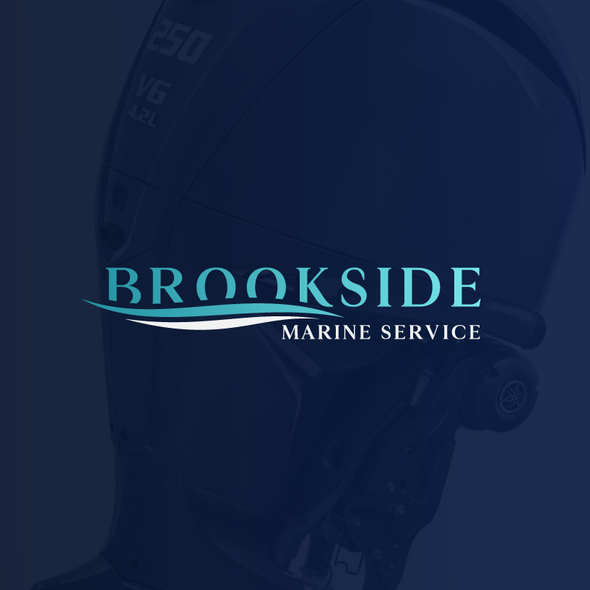 Yacht design with the title 'Brookside Marine Service'