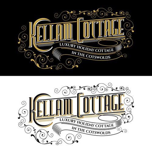 Cottage design with the title 'Logo Vintage for Holiday Cottage'
