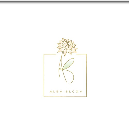 Flower brand with the title 'Branding for Alba Bloom'