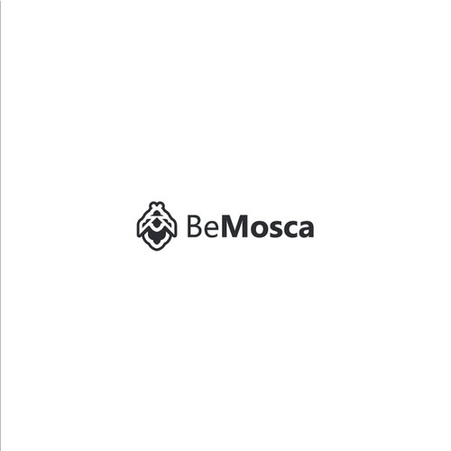 Small logo with the title 'BeMosca Logo Design'