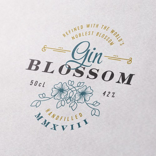 Gin logo with the title 'Logo Concept for Gin'