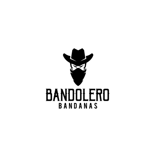 Cowboy hat logo with the title 'COWBOY BANDIT LOGO'