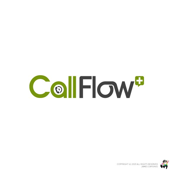 Call logo with the title 'Call Flow + needs a new logo'
