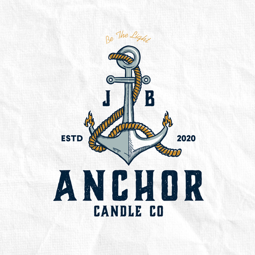 Rope logo with the title 'Logo concept for Anchor Candle CO'