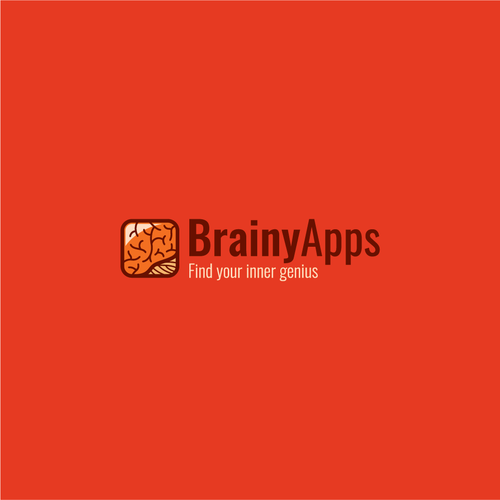 Brain logo with the title 'Smart logo for BrainyApps'