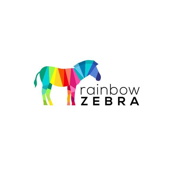 Zebra logo with the title 'Rainbow Zebra'