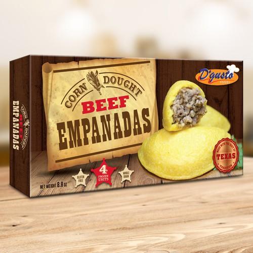 Wood design with the title 'Empanadas Box Design'