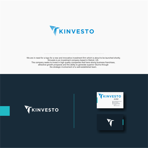 Stock logo with the title 'k logo investor'