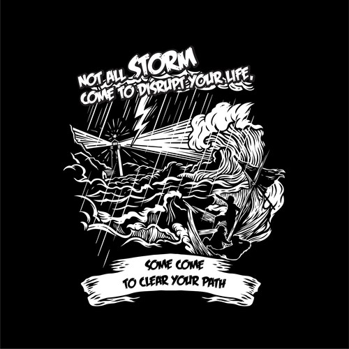 Quote t-shirt with the title 'T shirt illustration design concept'