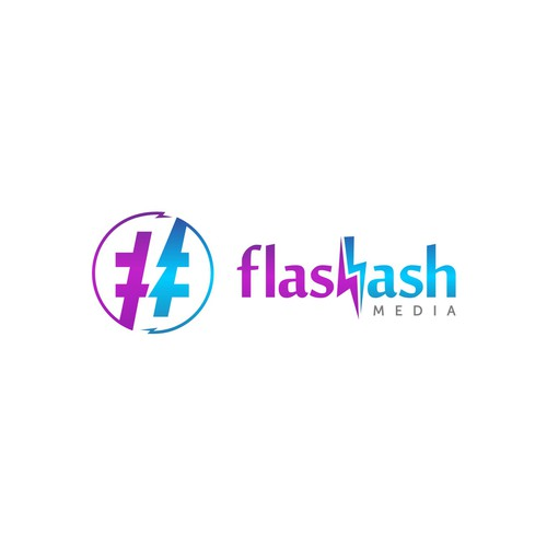 Hashtag design with the title 'Flash hash'