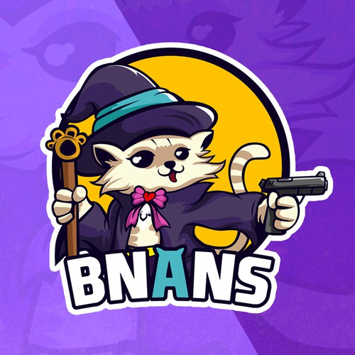 Streamer design with the title 'Cat Mage '