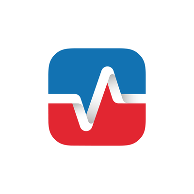 app icon design for Pulse, a civic engagement platform connecting citizens to their elected representatives