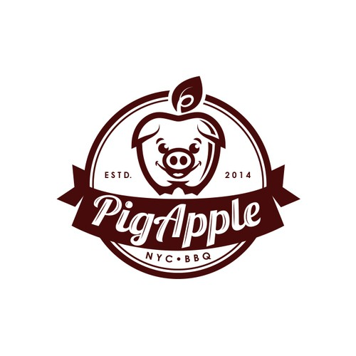 Apple tree logo with the title 'Pig Apple'